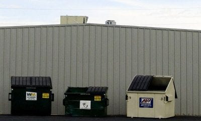 Three dumpsters