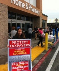 "Stockton Workers and Seniors Fight ""Walmart Loophole"""