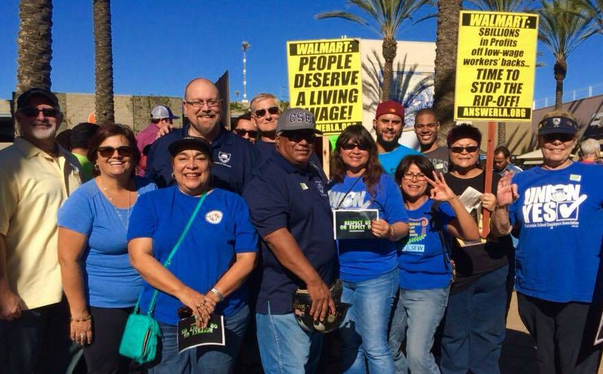 Members of the California School Employees Association showed their support. Photo by TR Albert.