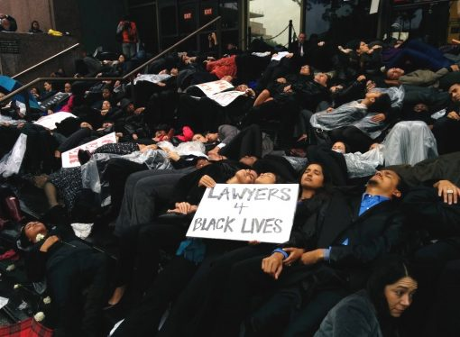 Lawyers and Law Students Stage 'Die-in' Outside L.A. Courthouse