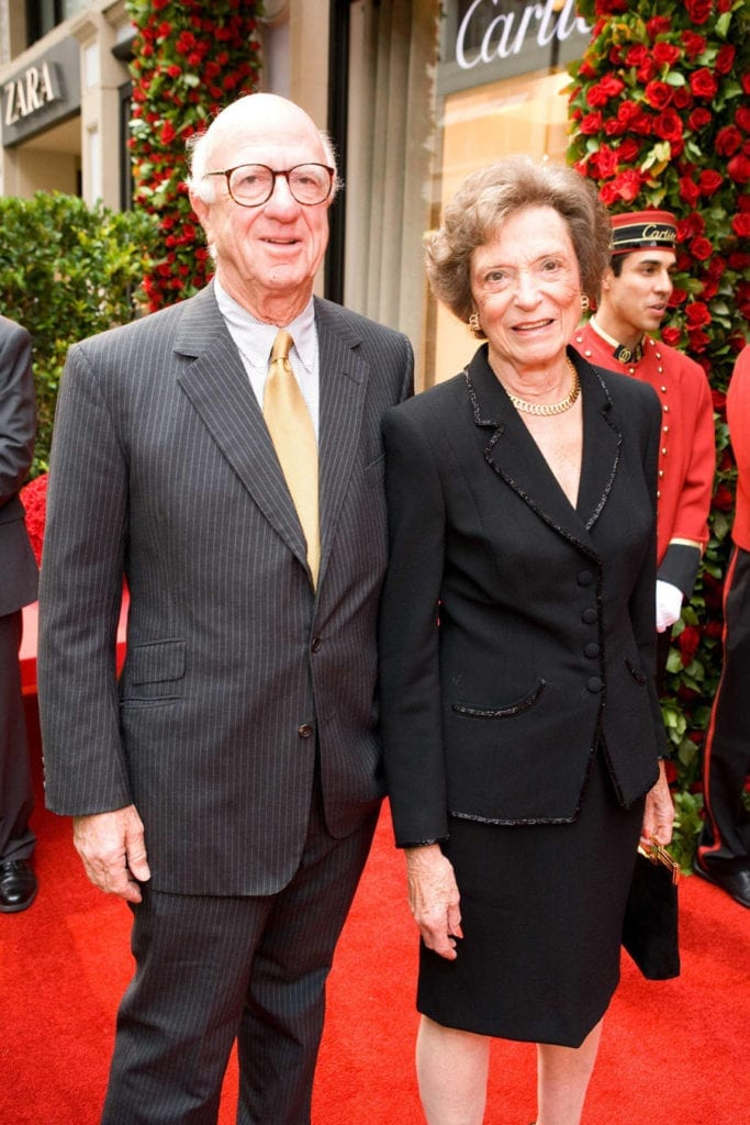 Don & Doris Fisher at the opening of a new Cartier store in San Francisco, September 2007. WENN Ltd / Alamy Stock Photo
