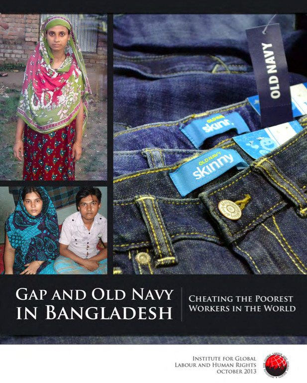 2013 report exposed abusive working conditions in a Bangladeshi factory that made clothes for The Gap.
