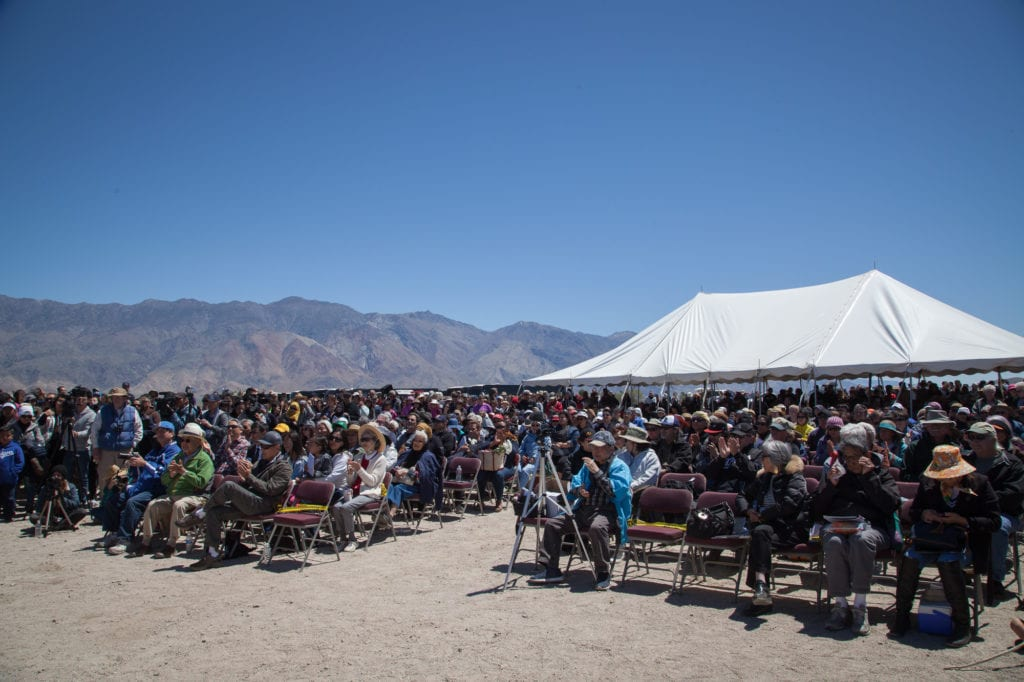 An estimated 2,000 people attended the 48th annual Manzanar Pilgrimage this year. Photo by Joanne Kim