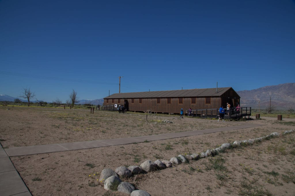 Recreation of a barracks at the Manzanar camp. Photo by Joanne Kim
