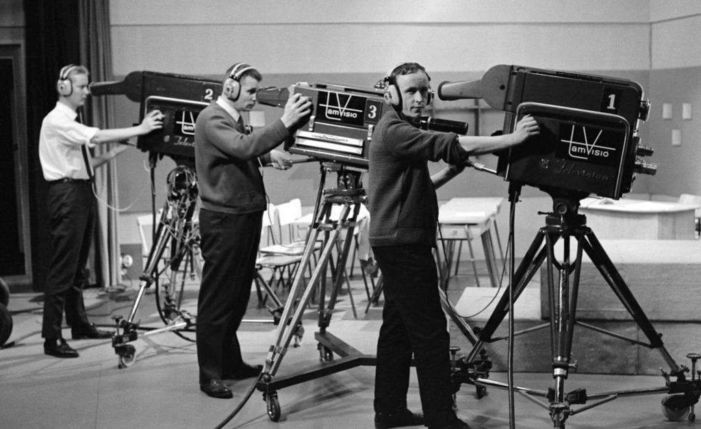 Camera operators for the Finnish Broadcasting Company, 1965.