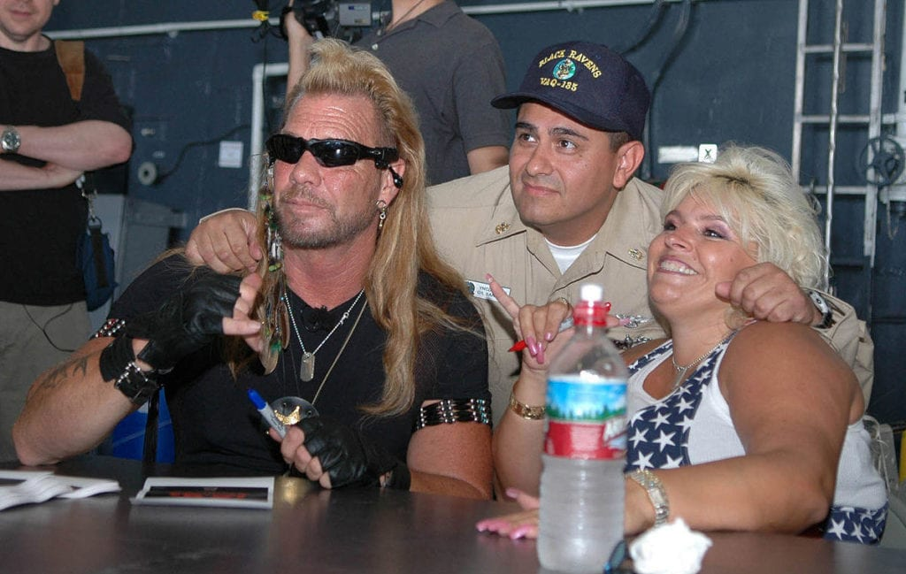 """Beth Chapman with husband, Dog the Bounty Hunter (L): """"People are not in jail because they're poor."""""""