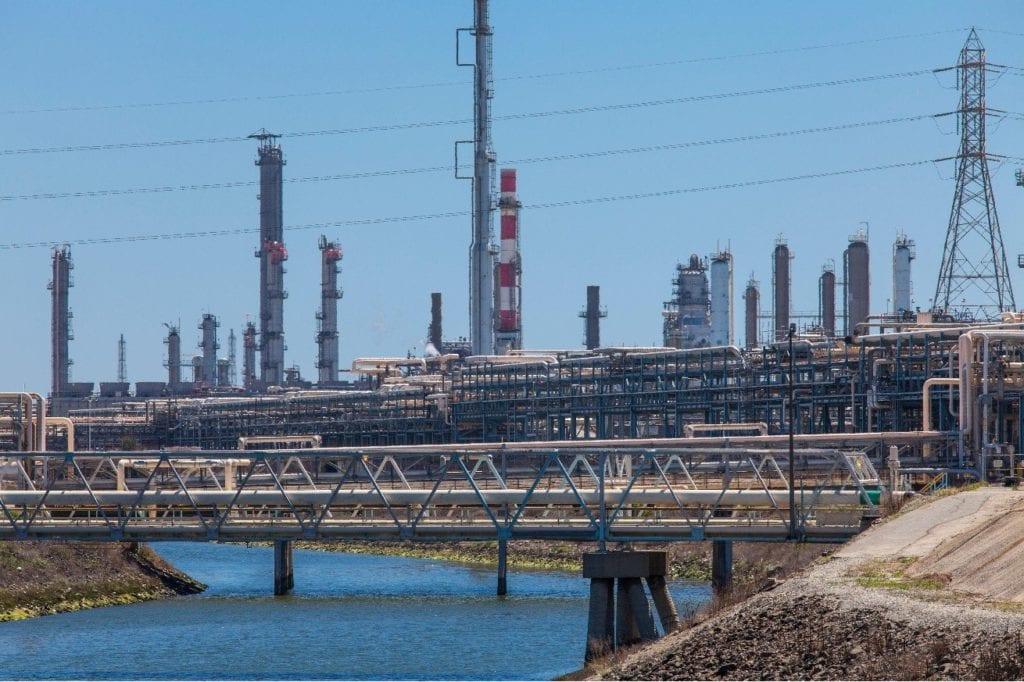 Carson oil refineries.