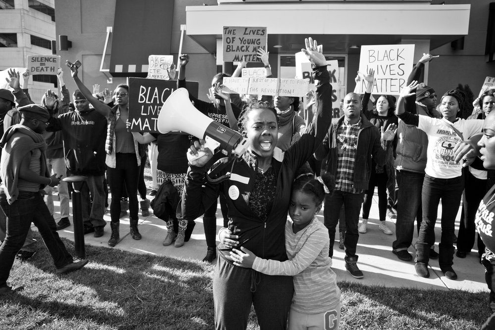 ctivist Brittany Ferrell and crowd of protesters in WHOSE STREETS?, a Magnolia Pictures release. Photo courtesy of Magnolia Pictures.