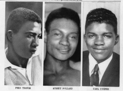 The three teenage boys killed by police at the Algiers Motel on July 26, 1967.
