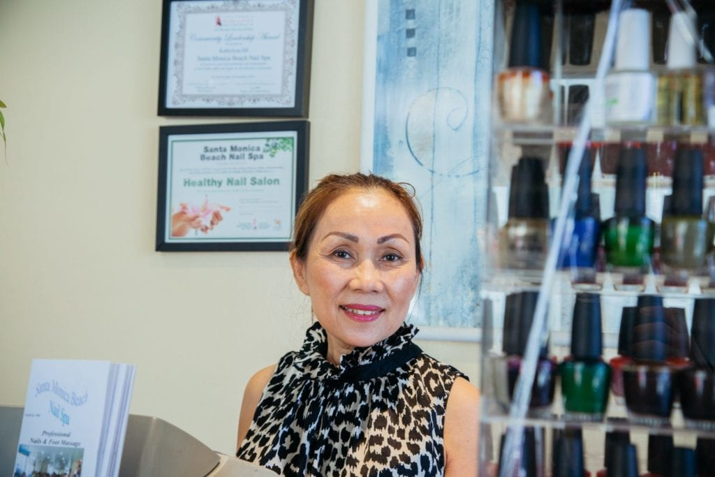 Kathylynn Do, owner of Santa Monica Beach Nail Spa in Santa Monica, CA, learned about the possible health hazards to her employees due to chemical exposure from the California Healthy Nail Salon Collaborative.