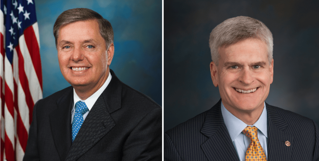 Anti-Affordable Care Act Senators Lindsey Graham and Bill Cassidy