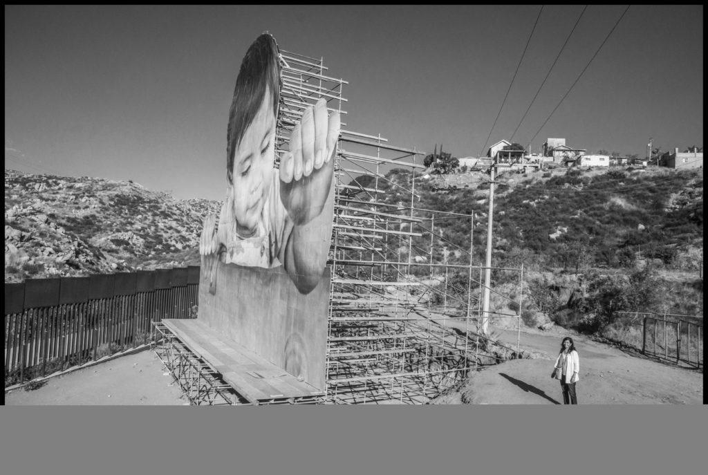 """""""Kikito"""" art installation at the U.S. Mexico border wall"""