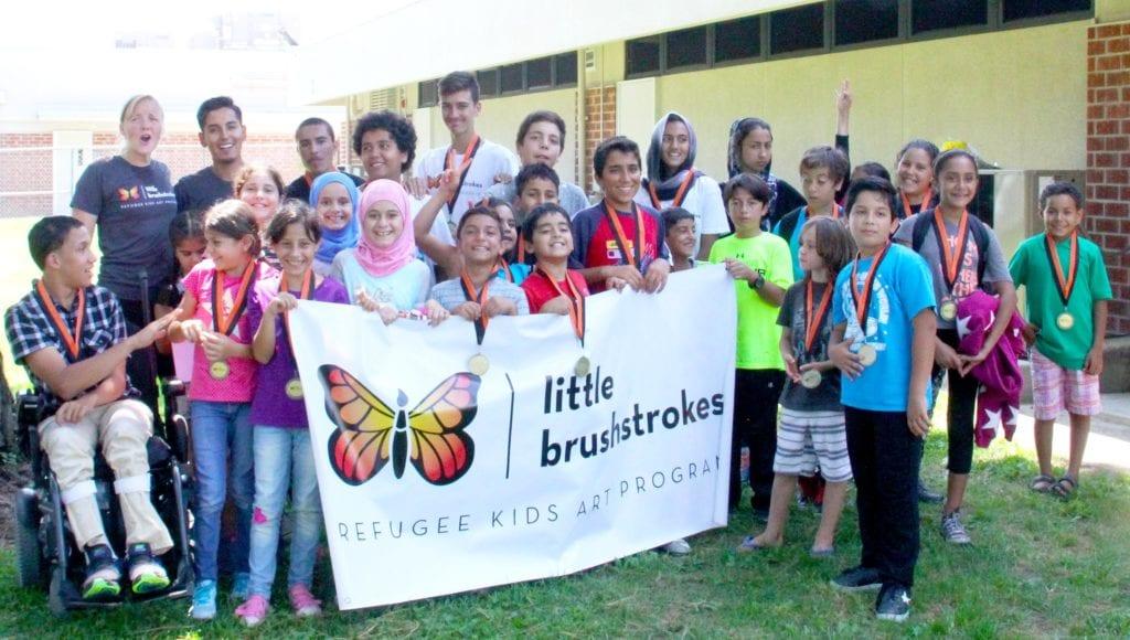 Soccer Diplomacy: Refugee children of the Little Brushstrokes League. (Photo: Ed Trenner)