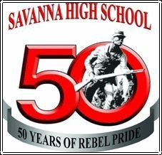 Savanna High School's Johnny Rebel mascot.