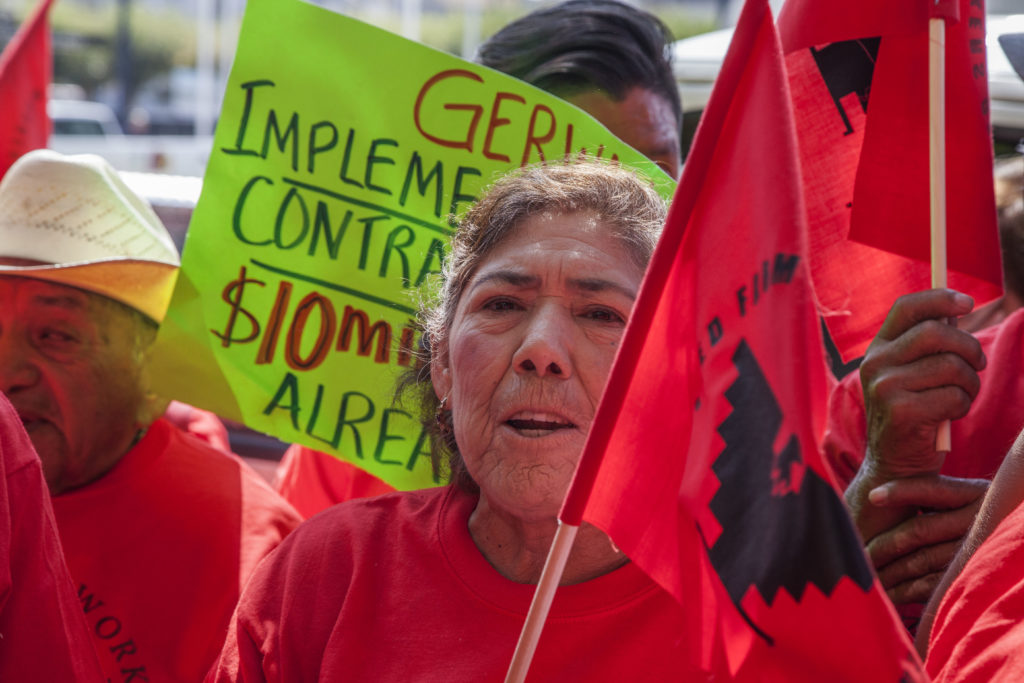 Farm Workers Protest at State Supreme Court