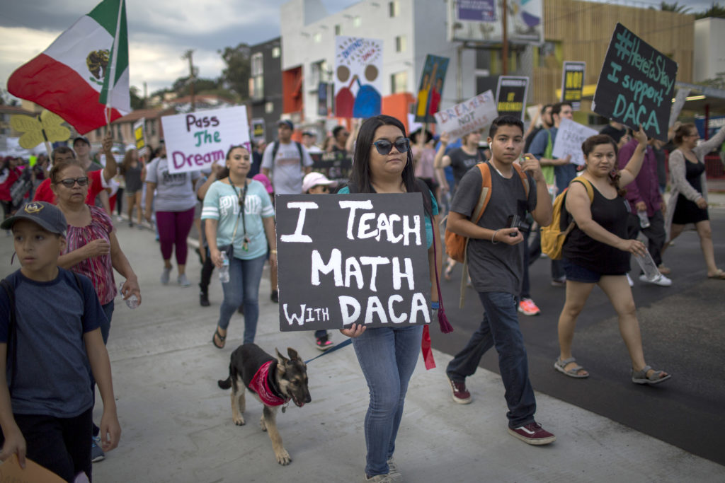 "Thousands Join ""Defend DACA"" March In Los Angeles"