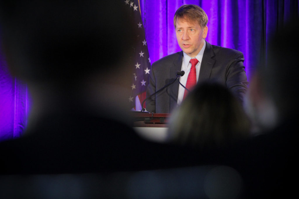 U.S. CFPB Director Richard Cordray during hearings on Debt Collection services January 12, 2017 in Washington, DC. The Consumer Financial Protection Bureau is an independent federal watchdog agency to protect consumers from financial fraud, crime and abus