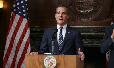 Mayor Eric Garcetti announces executive action to prevent the spread of COVID-19 on March 15