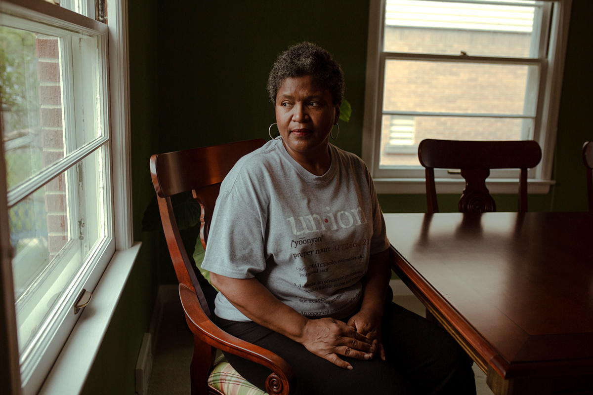 Barbara Toles, a former Democratic member of the Wisconsin State Assembly, at her home in Milwaukee.